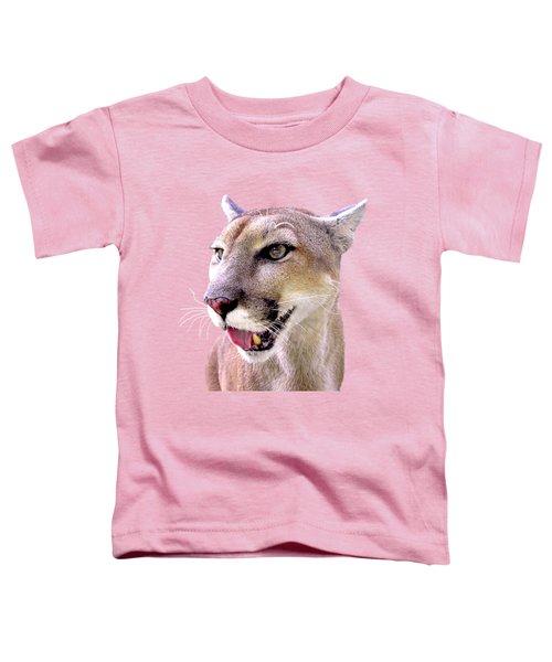 Panther Portrait Transparent Toddler T-Shirt by Sabrina Wheeler