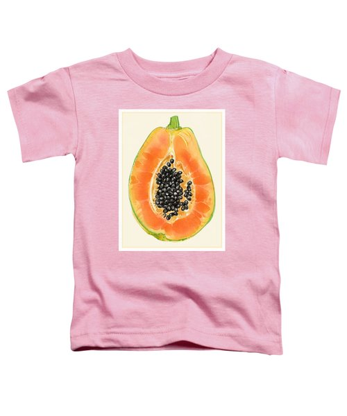 Toddler T-Shirt featuring the painting Papaya by Judith Kunzle