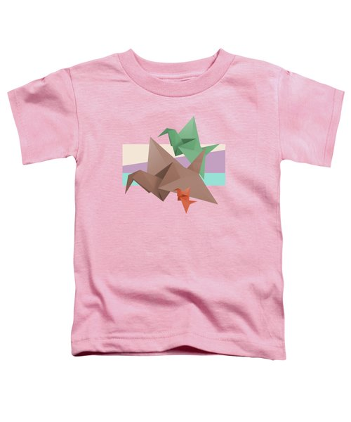 Paper Cranes Toddler T-Shirt by Absentis Designs