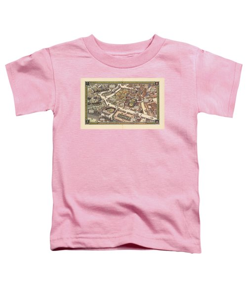 Passenger Cars On The American Roads - Vintage Illustrated Maps - Historical Map Toddler T-Shirt