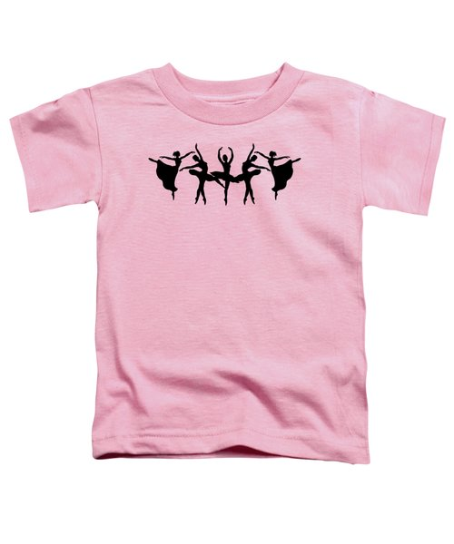 Passionate Dance Ballerina Silhouettes Toddler T-Shirt