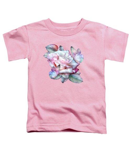 Pastel Rose And Butterflies Toddler T-Shirt