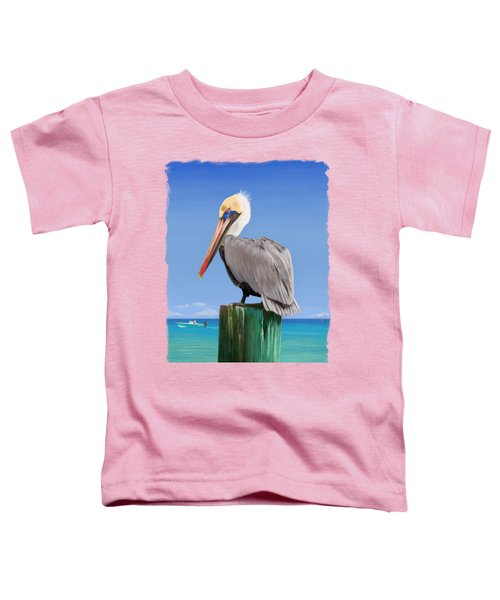 Pelicans Post Toddler T-Shirt by Kevin Putman