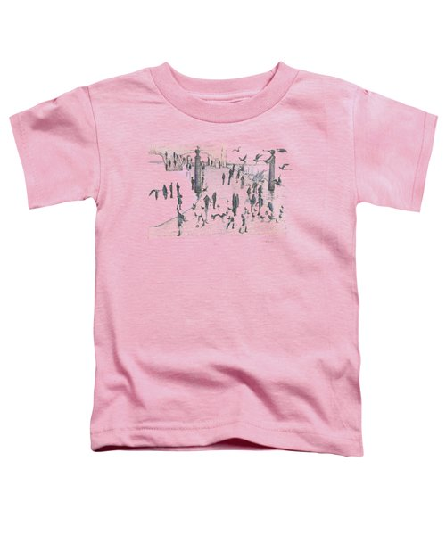 People And Birds, 19 December, 2015 Toddler T-Shirt by Tatiana Chernyavskaya