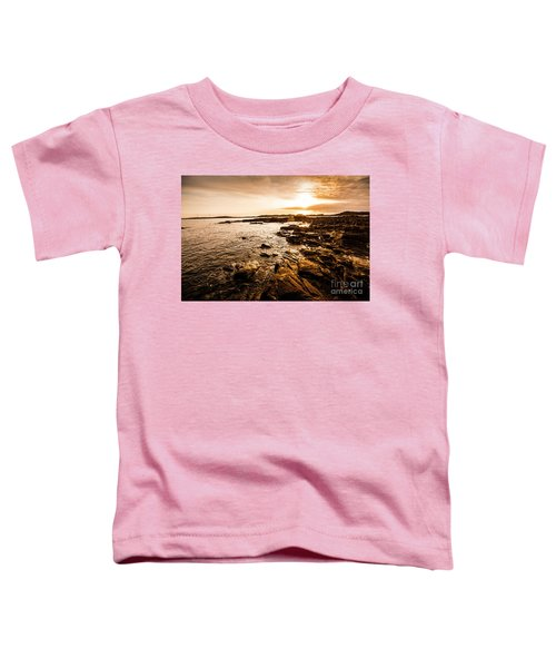Petal Point Ocean Sunrise Toddler T-Shirt