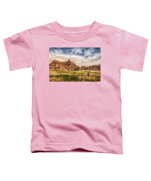 Photographer Waiting For The Badlands Light Toddler T-Shirt