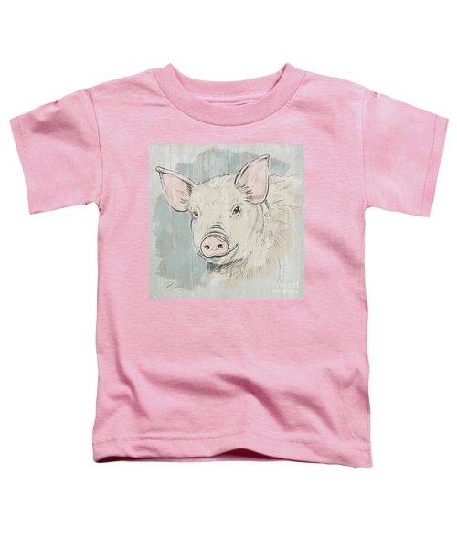 Pig Portrait-farm Animals Toddler T-Shirt