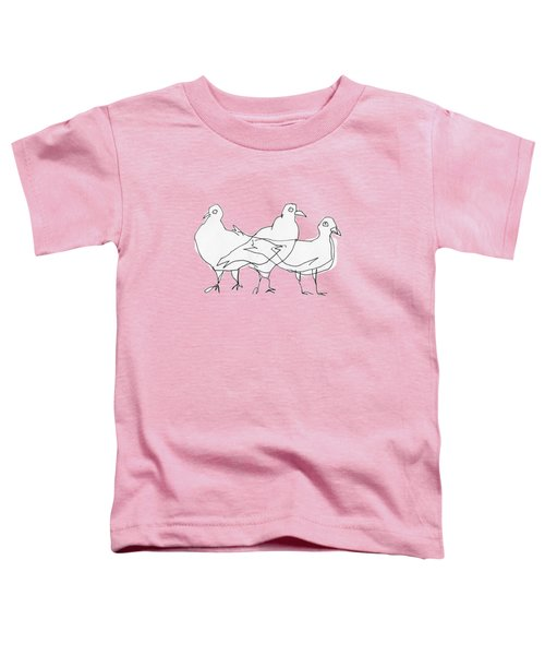 Pigeons Toddler T-Shirt by Matt Mawson