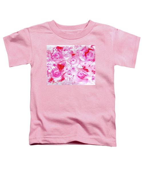 Pink Abstract Floral Toddler T-Shirt