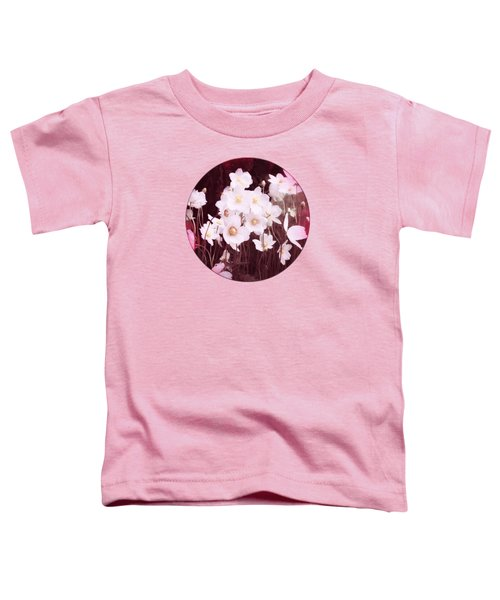 Pink And White Anemones Toddler T-Shirt