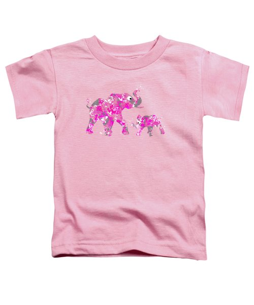 Pink Elephants Toddler T-Shirt by Christina Rollo