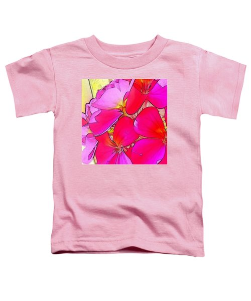 Pink Flower Toddler T-Shirt