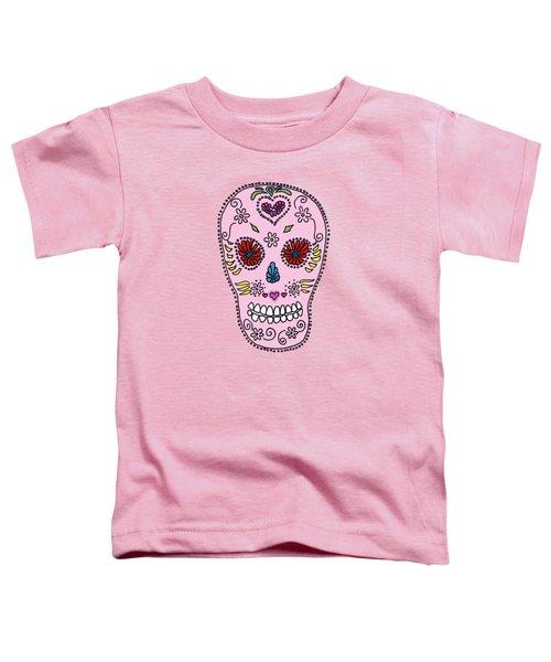 Pink Sugar Skull Toddler T-Shirt