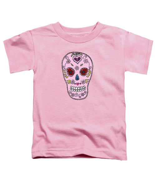 Pink Sugar Skull Toddler T-Shirt