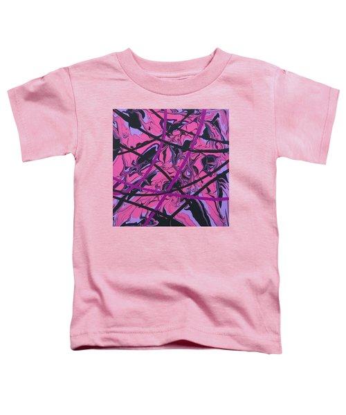 Pink Swirl Toddler T-Shirt by Teresa Wing
