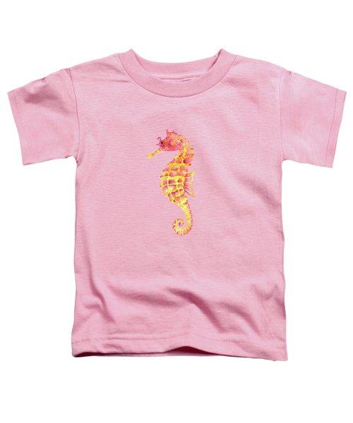 Pink Yellow Seahorse Toddler T-Shirt