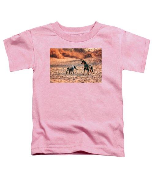 Pitbull And Doberman Toddler T-Shirt