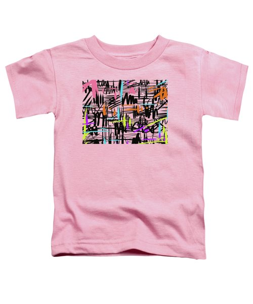 Toddler T-Shirt featuring the painting Playful Scribbles by Go Van Kampen