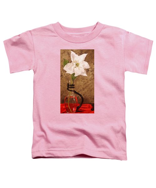 Poinsettia In Pitcher  Toddler T-Shirt
