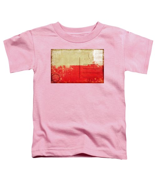 Poland Flag Postcard Toddler T-Shirt