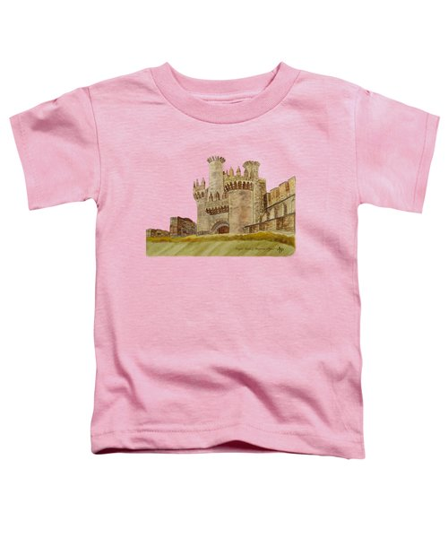 Ponferrada Templar Castle  Toddler T-Shirt by Angeles M Pomata
