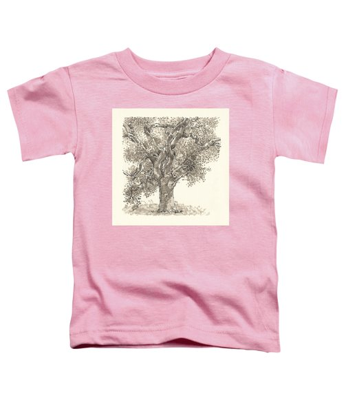 Toddler T-Shirt featuring the drawing Oak by Judith Kunzle