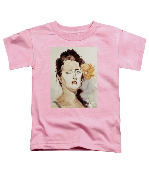 Portrait Of A Young Woman With Flower Toddler T-Shirt