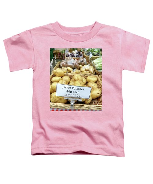 Potatoes At The Market  Toddler T-Shirt by Tom Gowanlock