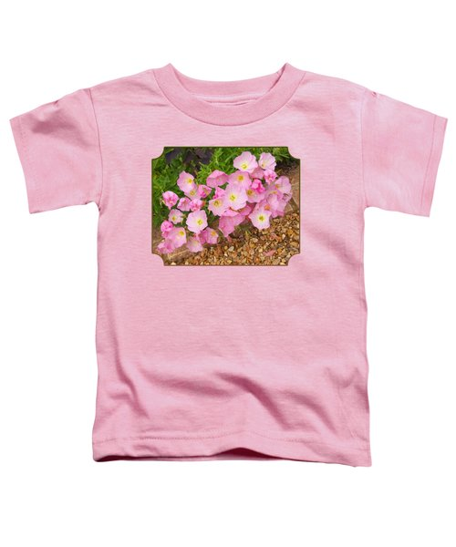 Pretty Pink Rock Roses In The Rain Toddler T-Shirt