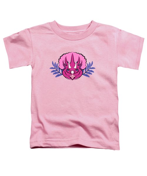 Pretty Pink Triceratops Toddler T-Shirt by MM Anderson
