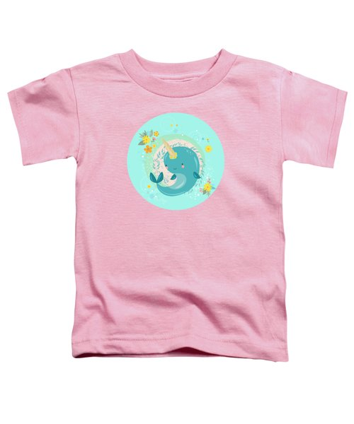 Pretty Princess Narwhal Toddler T-Shirt