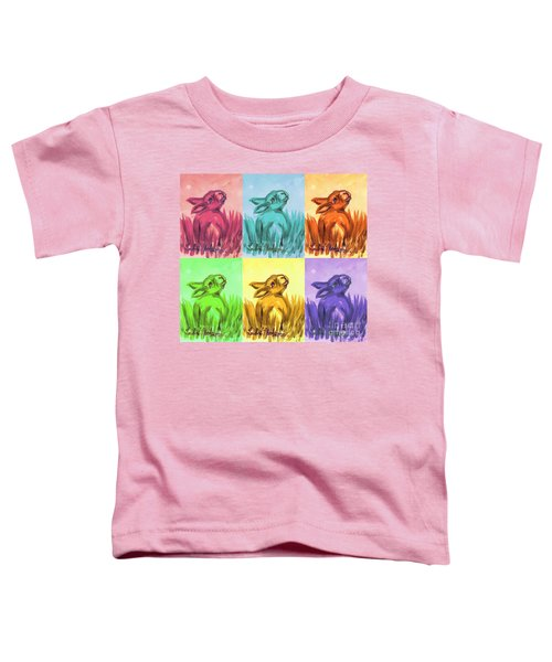 Primary Bunnies Toddler T-Shirt