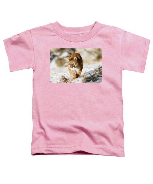 Prowling Mountain Lion Toddler T-Shirt