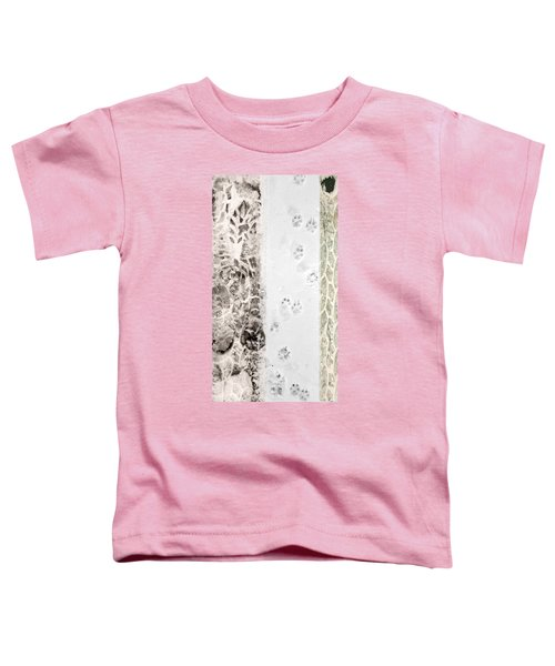 Puppy Prints In The Snow Toddler T-Shirt