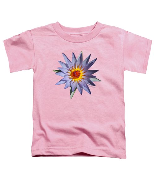 Purple Water Lily Transparent Toddler T-Shirt