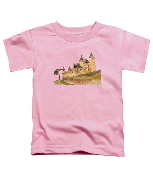 Puymartin Castle Toddler T-Shirt by Angeles M Pomata