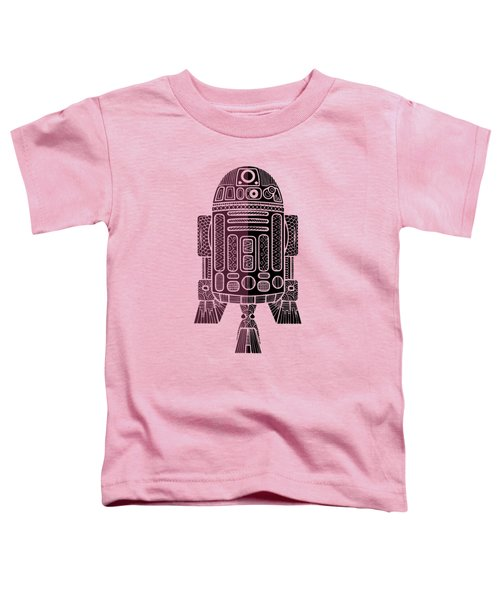 R2d2 - Star Wars Art - Purple Toddler T-Shirt