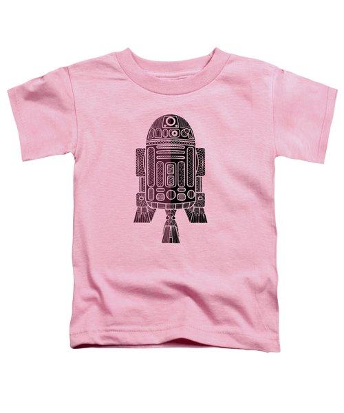 R2d2 - Star Wars Art - Purple Toddler T-Shirt