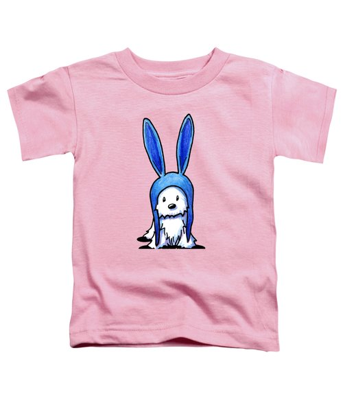 Rabbit Ears Westie Toddler T-Shirt by Kim Niles