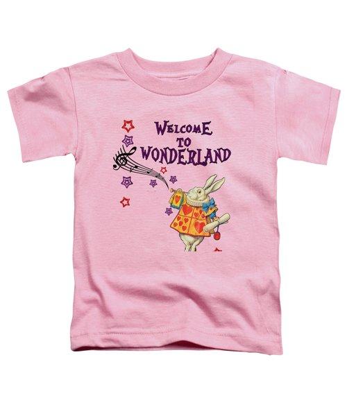 Rabbit Welcome To .. Alice In Wonderland Toddler T-Shirt