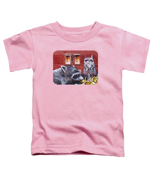 Raccoons Toddler T-Shirt by Ethna Gillespie