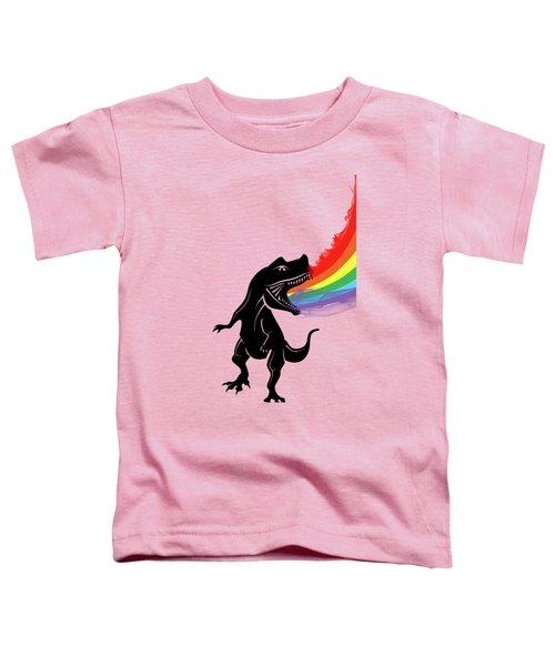 Rainbow Dinosaur Toddler T-Shirt