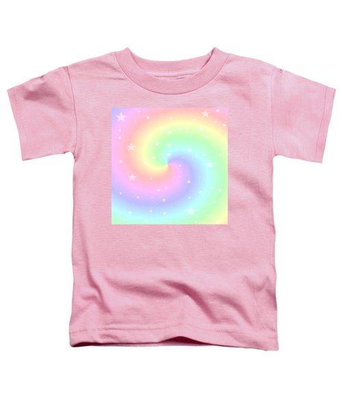 Rainbow Swirl With Stars Toddler T-Shirt