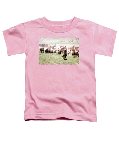 Raising Dust On The Great American Horse Drive In Maybell Colorado Toddler T-Shirt