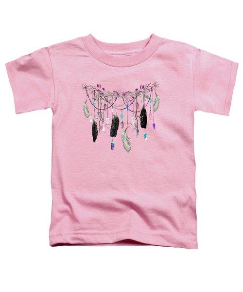Raven Feathers And Roses Crystal Spirit Gazer Toddler T-Shirt