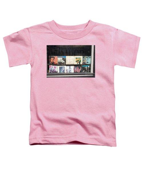 Record Store Burlington Vermont Toddler T-Shirt by Edward Fielding