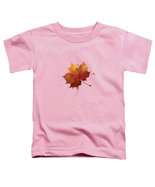 Red Autumn Leaf Toddler T-Shirt by Thubakabra
