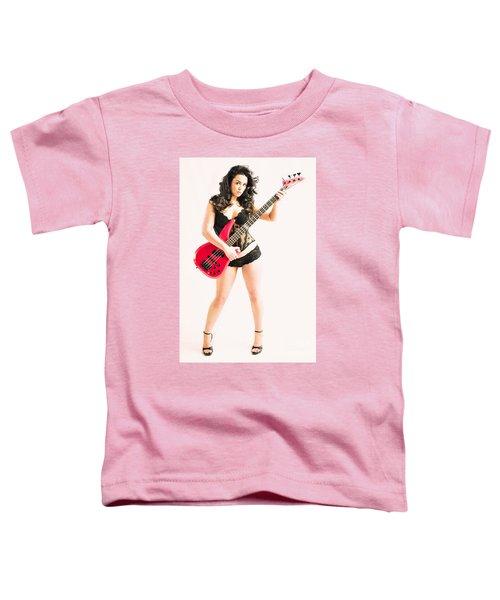 Red Bass Guitar Toddler T-Shirt