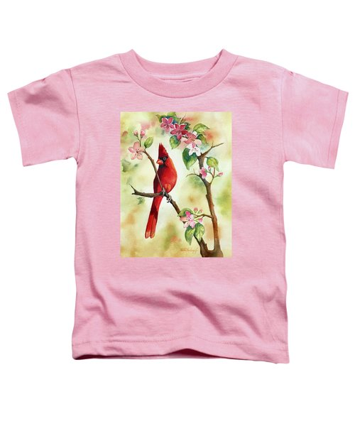 Red Cardinal And Blossoms Toddler T-Shirt