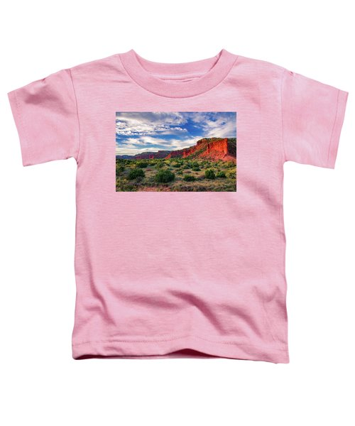 Red Cliffs Of Caprock Canyon Toddler T-Shirt